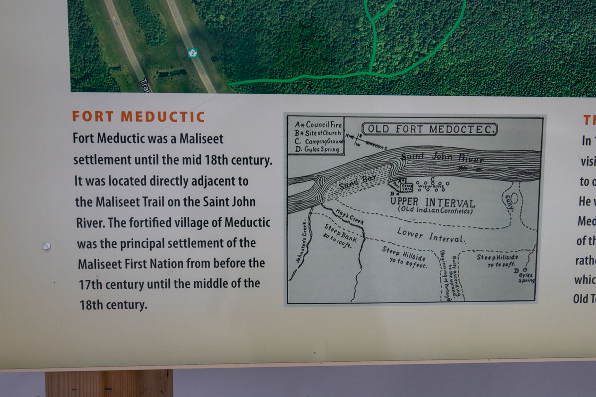 Fort Meductic on the Maliseet Trail sign