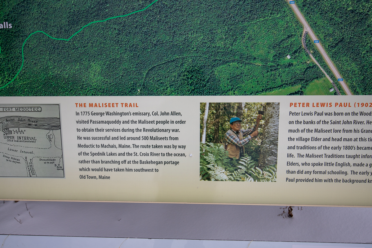 Maliseet Trail sign