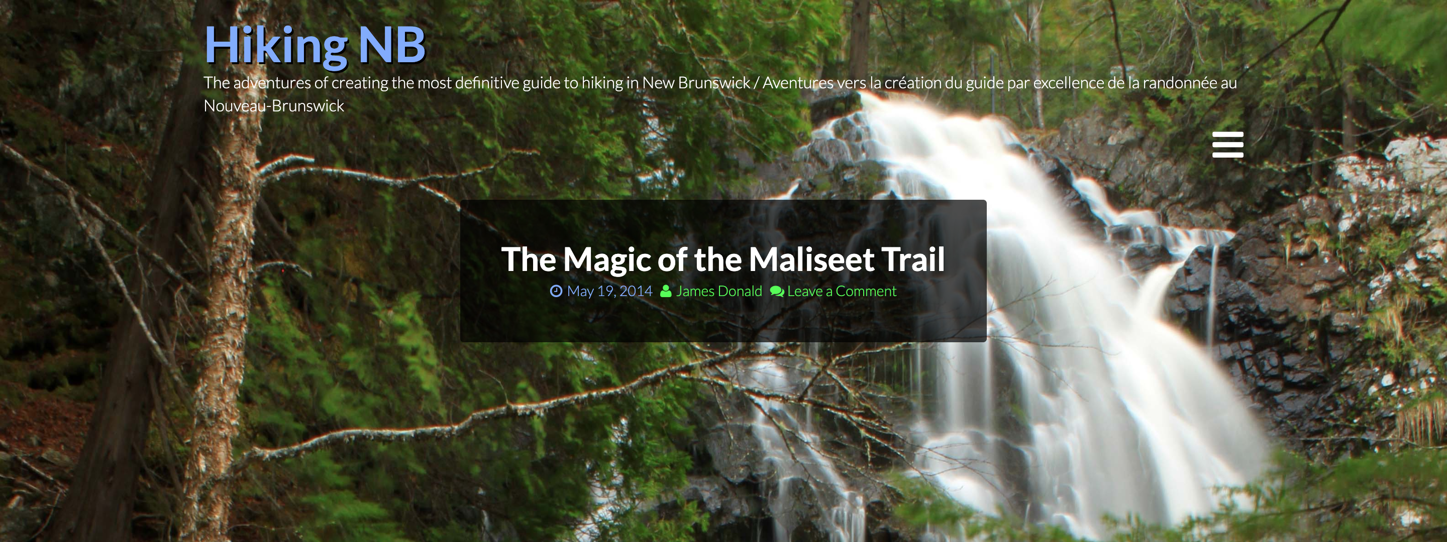 Magic on the Maliseet Trail blog post