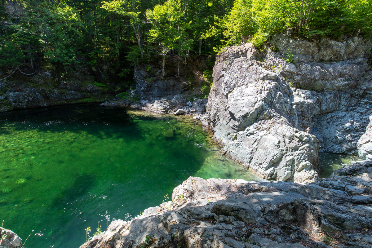 Cliffs and Pool at Crooked Creek Falls