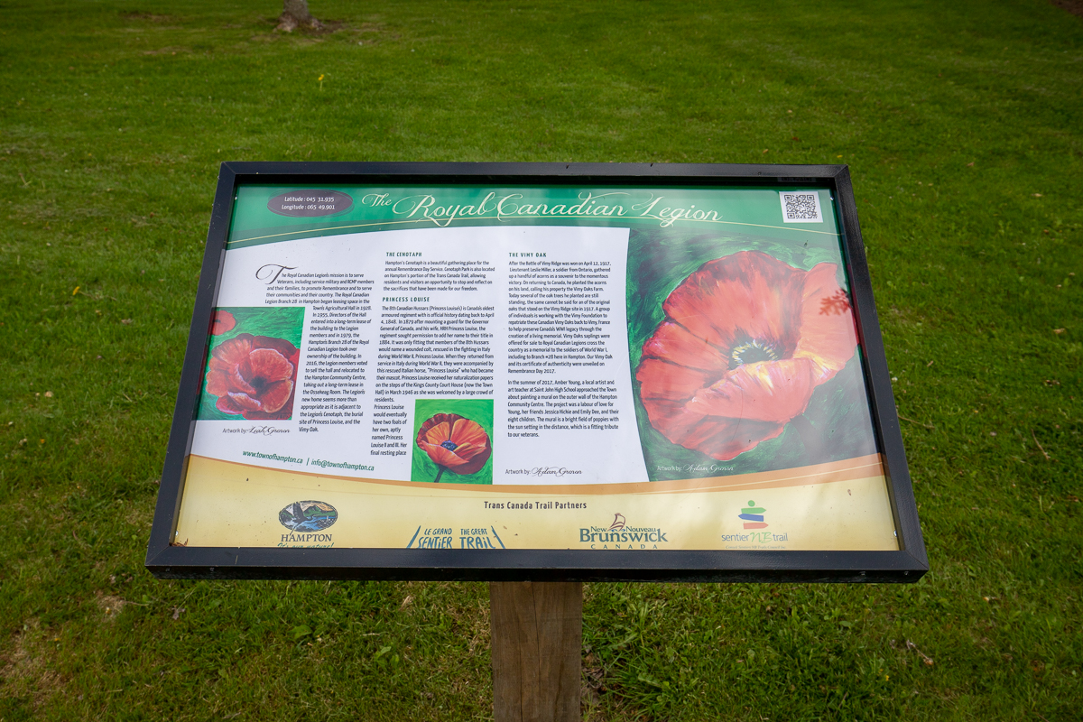 The Royal Canadian Legion Interpretive sign