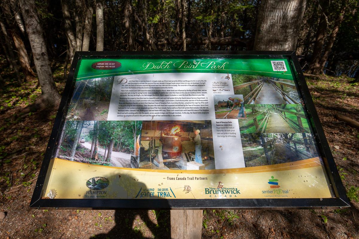 Dutch Point Park sign