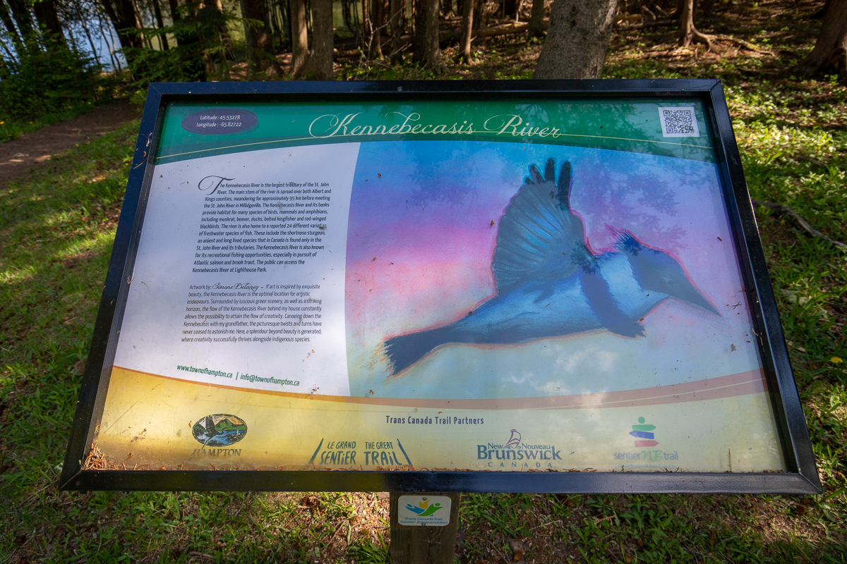 Kennebecasis River sign