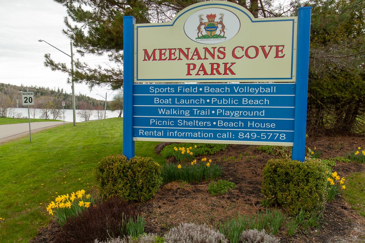 Panneau du parc de Meenan's Cove