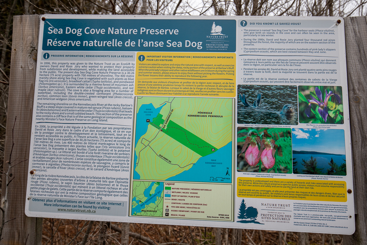 Panneau de l'Anse Sea Dog