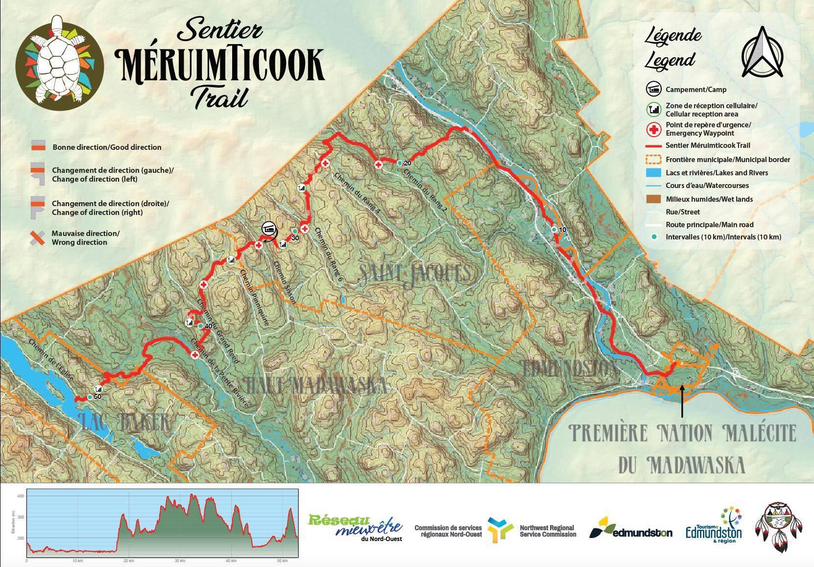 CarteMeruimticook Map