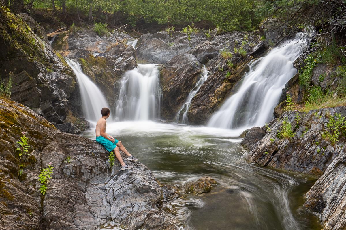 Nager à Four Falls
