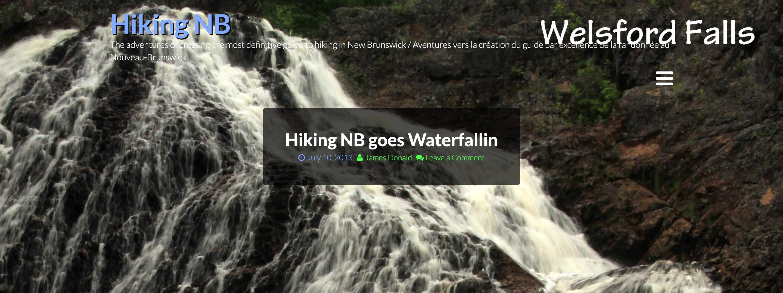 Hiking NB goes Waterfallin Blog Post