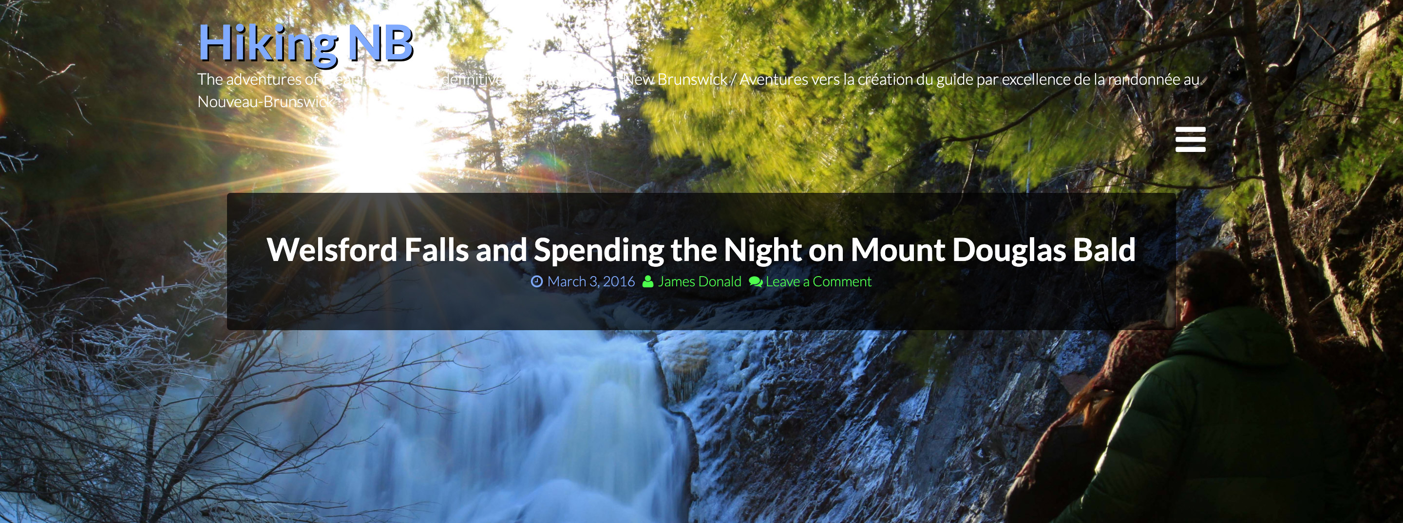 Welsford Falls and Spending the Night on Mount Douglas Bald Blog Post